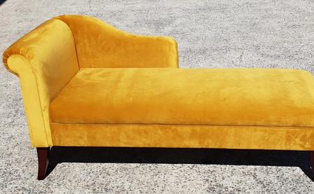 Restored & Renewed Plush Chaise.