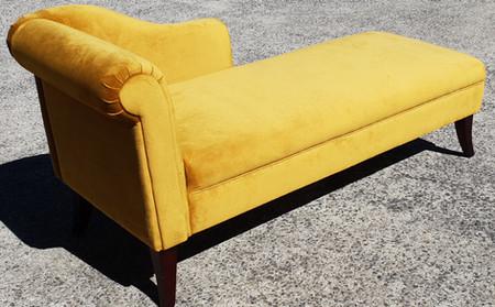 Restored & Renewed Plush Chaise