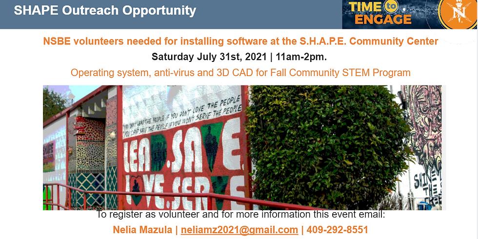 S.H.A.P.E. Center Volunteer