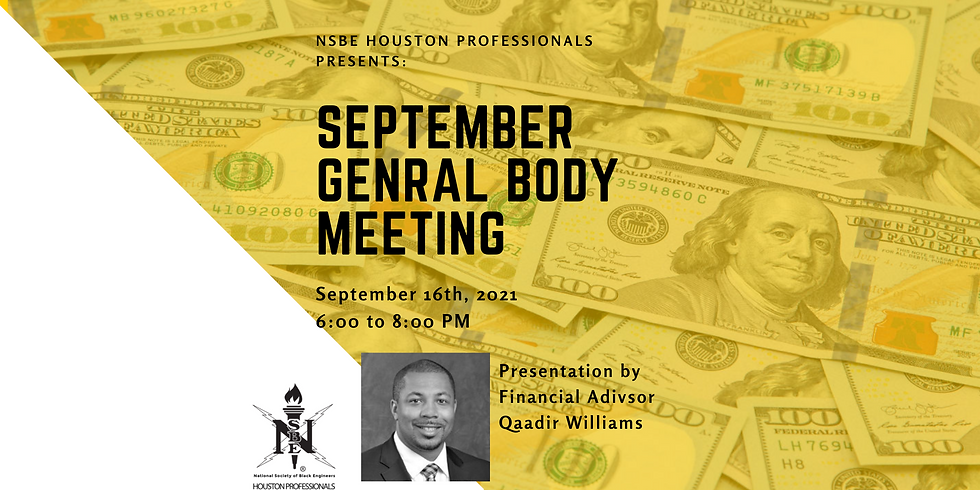 September General Body Meeting