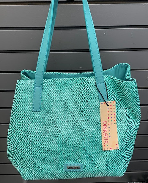 Green Patterned Tote Bag