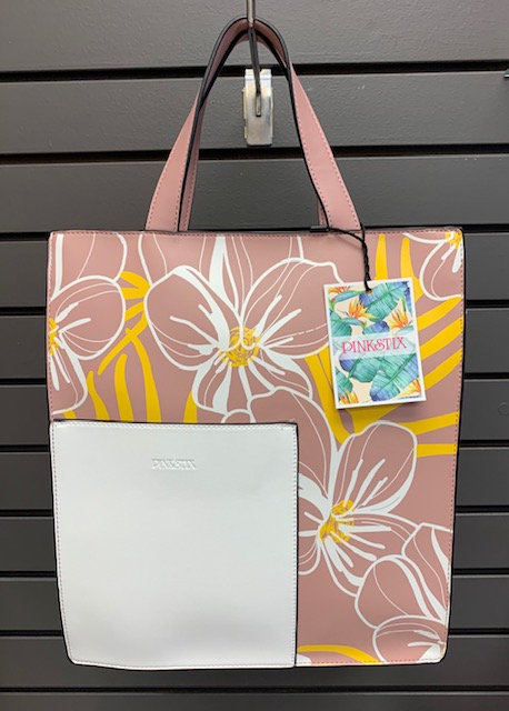 Floral Rose Pink Tote Bag