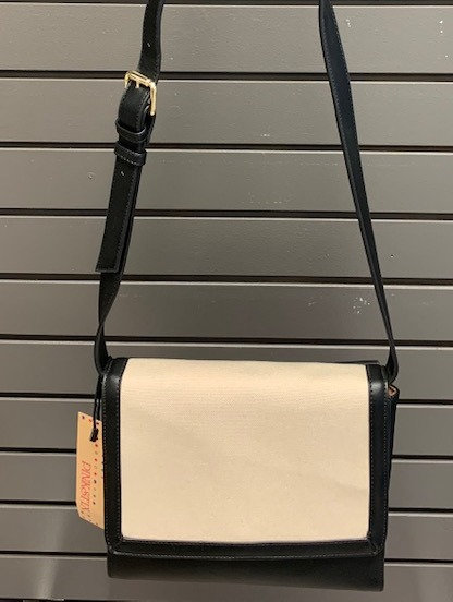 Cream/Black Small Crossbody Bag