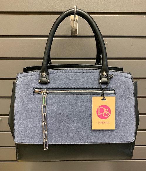 Navy Suede Handbag
