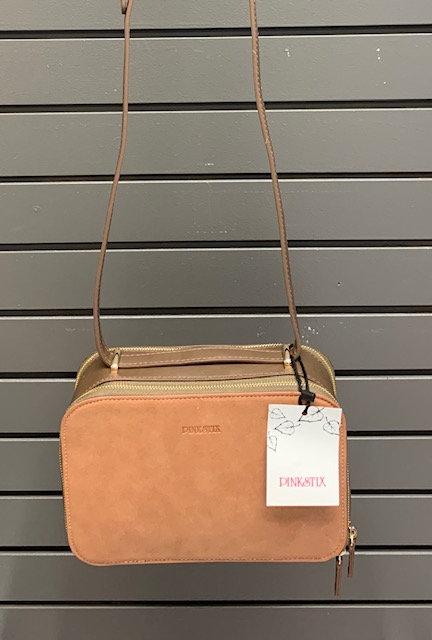 2 Tone Brown Crossbody Bag