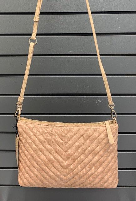 Textured Tan Handbag