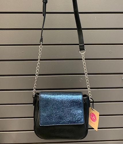 Metallic Blue Evening Bag