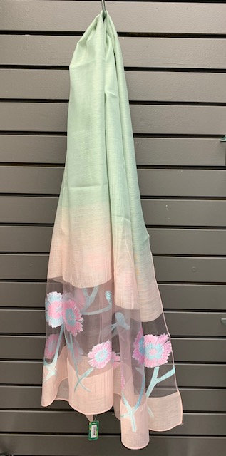 Two-Tone Spring Scarf