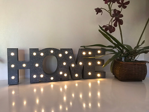 HOME LED Sign