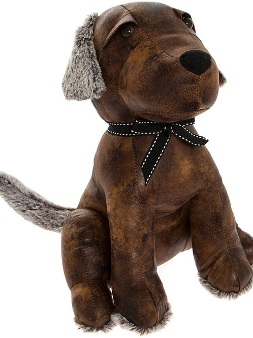 Faux Leather Labrador Doorstop