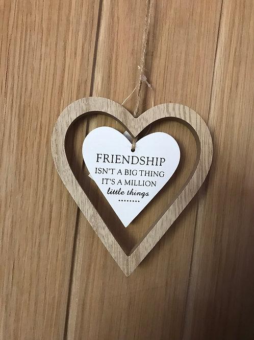 Friendship Heart Sign
