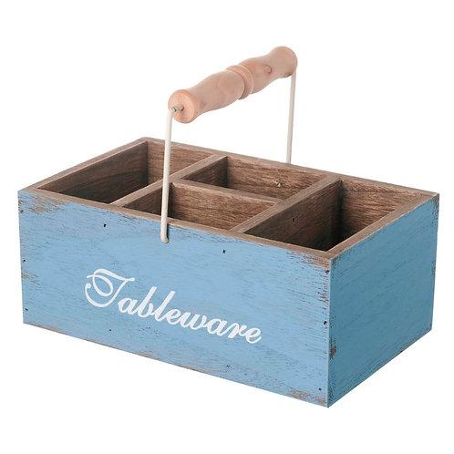 Wooden Tableware Basket