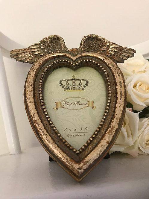 Antique look Heart frame