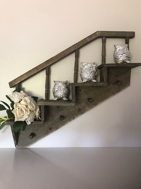 Wooden Stair Case style shelf