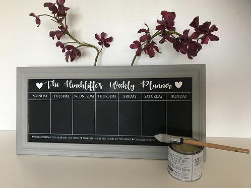 Personalised Weekly Planner Chalkboard