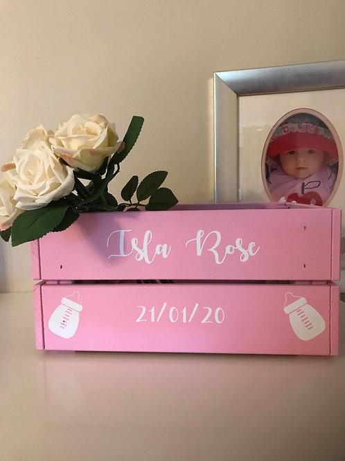 Personalised Crate for newborn/birthday/christening