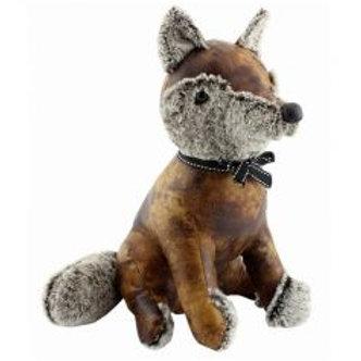 Faux leather Fox doortsop