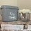 Thumbnail: Recycled grey plastic storage caddy with lid and handle