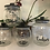 Thumbnail: Set of 4 clear kilner glass tea, coffee, sugar & cookies canisters