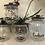 Thumbnail: set of 3 clear kilner glass tea, coffee & sugar canisters