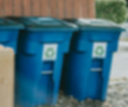 Blue Single stream recycling bins