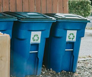 Blue Single stream recycling bins