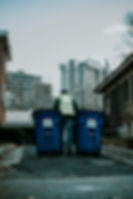 Single stream recycling rolling bins service