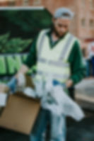 Sorting recyclables to reduce use of raw materials