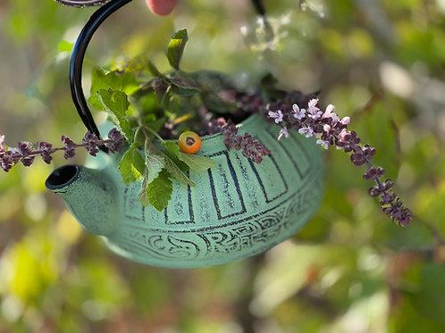 קומקום בסגנון יפני 800מל  + חליטת הגינה + דבש מקומי קטן