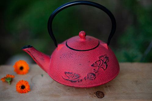 קומקום ברזל אדום בסגנון יפני