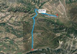 Aksu canyon map