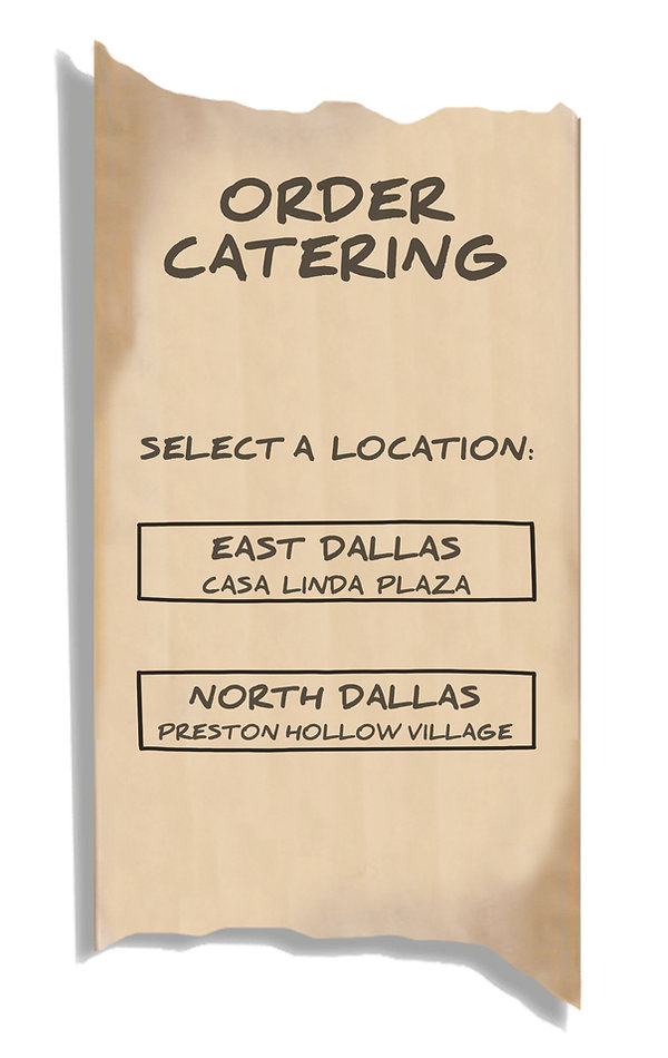 Order Catering Select a Location