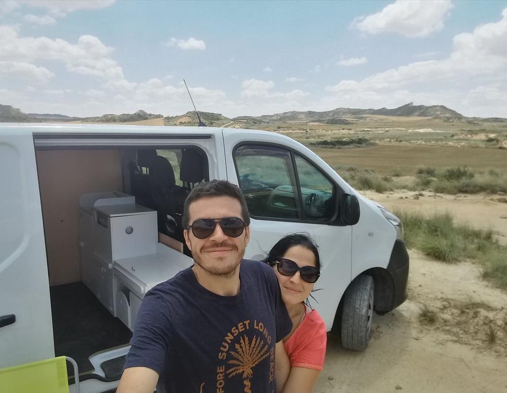 Alex et Caro aux Bardenas