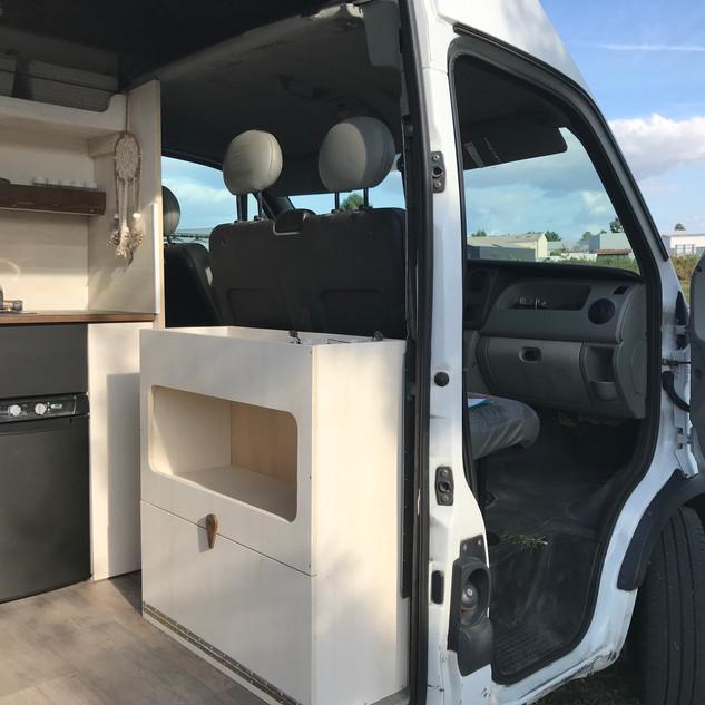 Desserte ouverture large/Espace technique, kit BIG Mobilier-Nomad