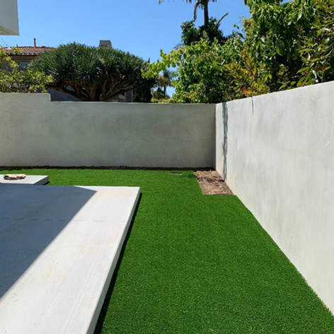 Installation of Artificial turf, planters, tree and irrigation system