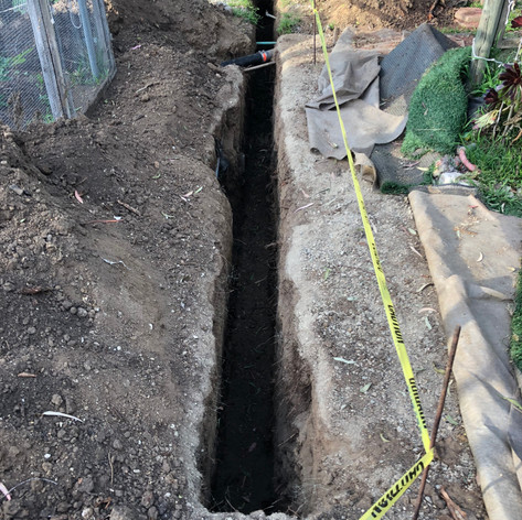 Installation of french drain