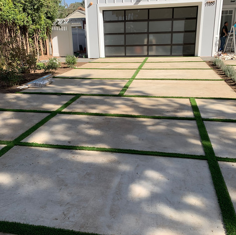 Installation of Irrigation system, plants and artificial turf