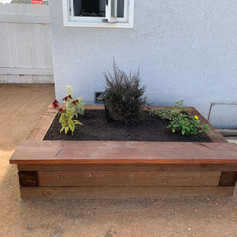 Installation of Decomposed Granite, planters and trees