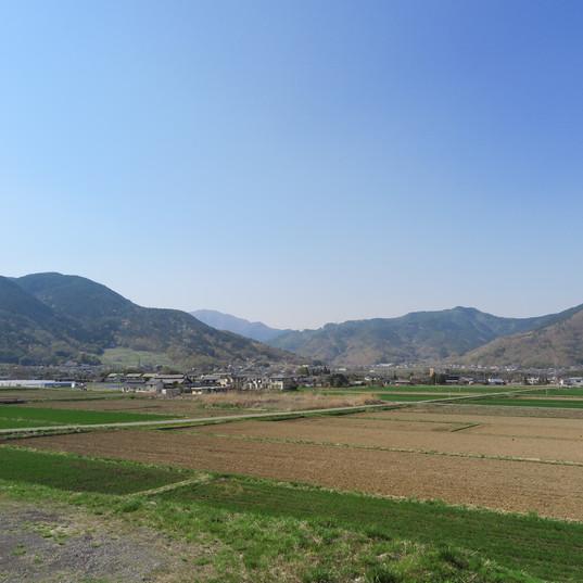 仁古田・新池(マレットゴルフ場)から見渡す景色