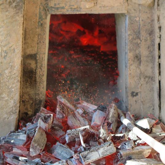 越戸の炭焼き2