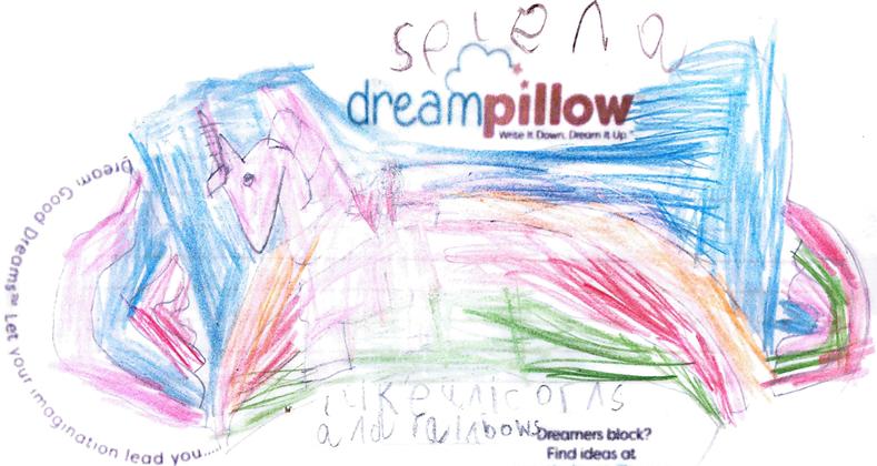 Selena quiere soñar que cabalga en un unicornio sobre el puente arcoíris.