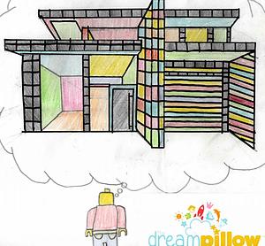 Alfie (13 ans) a rêvé de crée sa propre maison faite de Lego et dans laquelle il pourrait habiter.