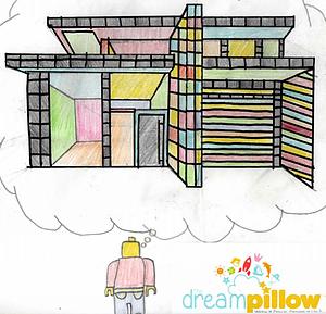 Alfie (13 años) soñaba con crear una casa hecha de Lego donde pudiera vivir.