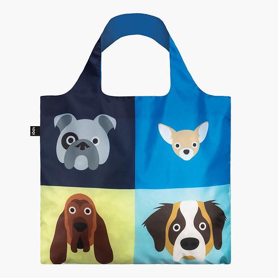 LOQI Artist Stephen Cheetham Dogs Canvas & Beach Tote Bag, 50 cm, 20 L, Multico