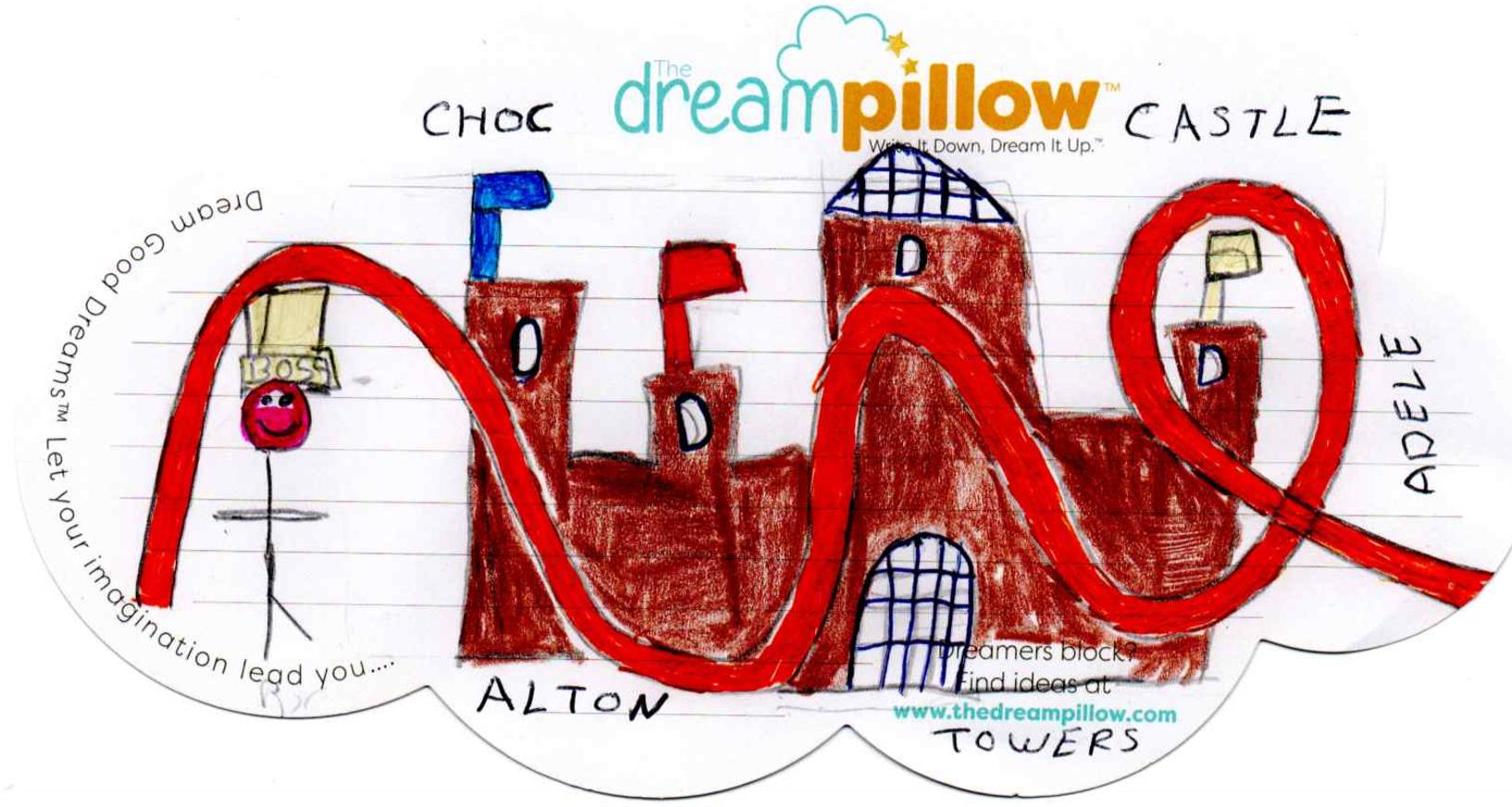 Adele de Cheshire dibuja su sueño donde se convierte en la jefa de Port Aventura y vive en un castillo (que está hecho de chocolate).