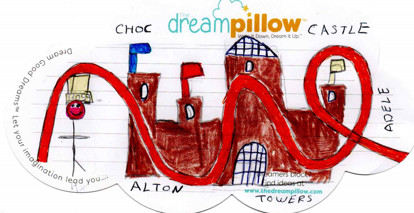 Adele from Cheshire draws her dream where she becomes boss of Alton Towers and lives in the castle (which is made from Chocolate).