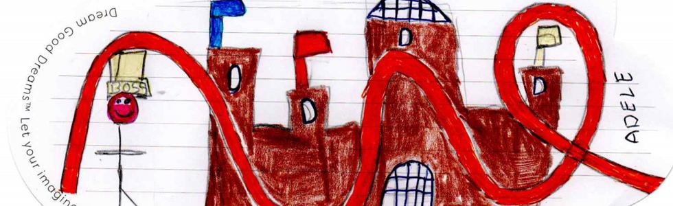 Adele da Cheshire disegna il suo sogno dove diventa la padrona del luna park di Alton Towers e vive dentro un castello fatto di cioccolata.
