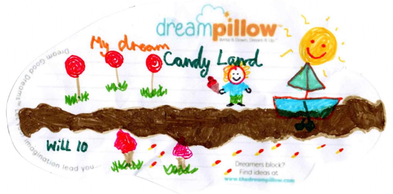 Will, 10 ans, de Rochester, veut rêver du pays des bonbons où le soleil fait fondre le chocolat et le transforme en une rivière chocolatée.