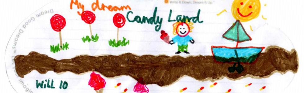 Will( 10 anni) da Roma vuole sognare del mondo dei dolci dove il sole fa scioglier il cioccolato in un fiume.