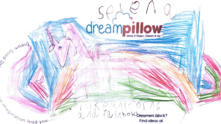 Selena wants to dream about riding a Unicorn over the rainbow bridge
